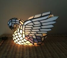 Stained Glass Swan Table Lamp