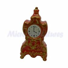 Dolls House Red Mantle Clock 1/12th Scale (01157)