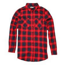 Slater Long Sleeve Check Shirt Red Navy