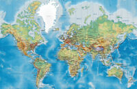 World Map Wall Stickers Vinyl Prints Home Office Business Decor Art Mural Gift