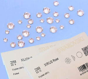 Wholesale SWAROVSKI 2058 & 2088 Crystal Clear Flat Backs Rhinestones * All Sizes