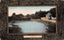 EPSOM SURREY UK BARON'S POND IN THE COMMON FRAMED PHOTO VIEW POSTCARD