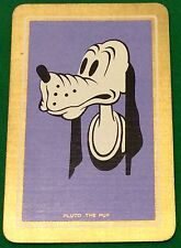Playing Cards 1 Single Swap Card Old Vintage DISNEY PLUTO THE PUP Mickey Mouse