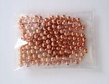 200 pcs 3mm Spacer Beads Round Brass Bead Jewelry Making Rose Gold 68B