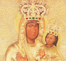 ZARVANYTSKA MOTHER OF GOD genuine byzantine art paint anniversary wedding gifts