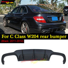 Mercedes c63 style w204 PP plastic rear bumper lip diffuser for C180 200 300 350