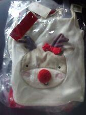 BNWT Next Baby Girls Christmas Reindeer Fleece Sweatshirt & Leggings Set 9-12M