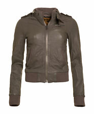 New Womens Superdry Unique Sample Supersoft Club Leather Jacket Size Small Mouse