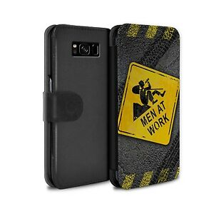 Case/Wallet/Cover for Samsung Galaxy S8 Plus/G955/Funny Road Signs/Men at Work