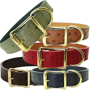 Brand New Auburn Leathercrafters Leather The Savannah Dog Pet Collar Collection