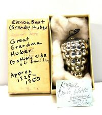 Antique German Kugel Grape Silver Christmas Ornament approx 1825-1850 OLD