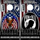 Cornhole Board Wrap US Vet Honoring Military POW American Flag Bald Eagle combo