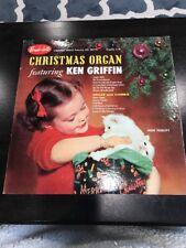 Christmas Organ Featuring Ken Griffin A38 Vintage Vinyl Record Album LP Holiday