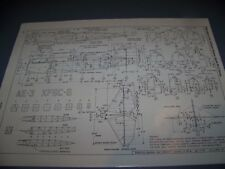 VINTAGE..CURTISS HAWK F6C SERIES...STRUCTURE/CROSS SECTIONS..RARE! (967Q)