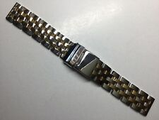 20MM HEAVY BAND BRACELET STRAP FOR BREITLING NAVITIMER CHRONOMAT TWO-TONE