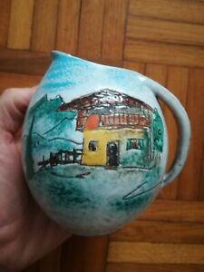 Keramik Krug HUBER ROETHE Keramische Werkstatt Achdorf Landshut 1950 er