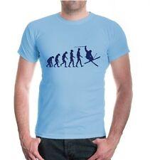 Señores unisex manga corta t-shirt the evolution of Skiing freestyle esquiar