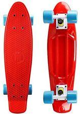 "Penny Style 22"" x 6"" Red/Blue Plastic Mini Cruiser Skateboard Banana Board"