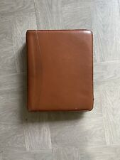 Vintage Franklin Covey Classic Leather Binder Planner 11 7 Ring Made In Usa Zip