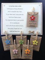 Personalised Merry Christmas Poem Gift Magnet. Mum Dad Sister Nan Teacher Aunty
