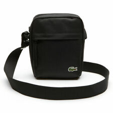 Lacoste 2019 Black Neocroc Canvas Camera/All Purpose Shoulder Bag - New W/ Tags