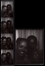 Funny Black Boy & Adoring Mother & Father ~ 1960s Photobooth Photo Strip!