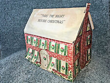 TWAS THE NIGHT BEFORE CHRISTMAS Countdown ADVENT CALENDAR Vintage TABLETOP HOUSE