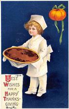 ELLEN CLAPSADDLE PC, HAPPY THANKSGIVING WISHES, INT'L ART PUB. CO.,  c.1907-1920