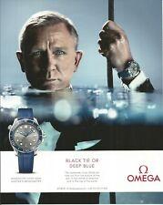 OMEGA SEAMASTER DIVER 300M - Black Tie or Deep Blue,James Bond - 2019 Print Ad