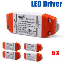 12v LED Driver Transformer 15w Constant Voltage Power Supply Adapter for Mr16 5pcs
