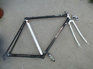 Nishiki Prestige Kuwahara Lugged 53cm Road Bike Frame Fork Tange Chromoly Xtras