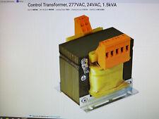 CONTROL TRANSFORMER, 277VAC, 24VAC, 1.5KVA 4MTW8