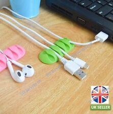 UK SELLER Brown Cable Winder Plug Holder Organizer Management Desk Wire Storage