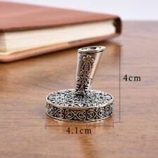 Vintage Feather Pen Stand Metal Round Pen Holder Magic Fountain Pen Accessories
