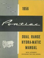 1955 1956 Pontiac Dual Range Hydra Matic Transmission Shop Service Repair Manual