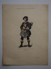 Marchand peaux de lapin 1774 COSTUME de PARIS GRAVURE COULEURS XIXe siecle
