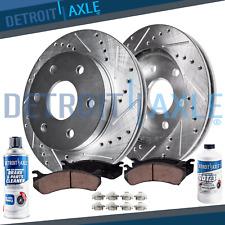 2 FRONTS 1261 2 Platinum Hart *DRILLED /& SLOTTED* Front Disc Brake Rotors
