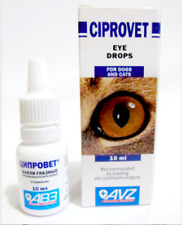 CIPROVET EYE DROPS for cats,dogs pet bactericidal and anti inflammatory