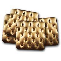 4 Set - Gold VIP Area Coaster - Clubbing Girl Cool Metallic Princess Gift #15282