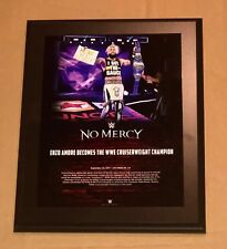WWE ENZO AMORE NO MERCY PAY PER VIEW COMMEMORATIVE FRAMED PLAQUE BRAND NEW