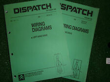 CITROEN DISPATCH VAN ELECTRICAL WIRING CIRCUIT CONNECTOR DIAGRAMS MANUAL 1996/97