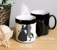 Beauty and the Beast Magical Colour Changing Mug. Image appears when hot