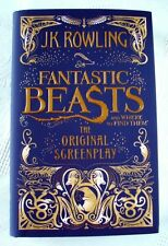 JK ROWLING Fantastic Beasts UK Hardback First Edition 1st Print Book, Screenplay
