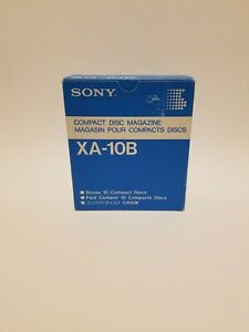 Sony XA-10B Compact Disc Magazine Stores 10 Discs With Slip Case Factory Sealed