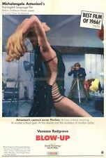 BLOW UP Movie POSTER 27x40 B David Hemmings Vanessa Redgrave Sarah Miles Jane