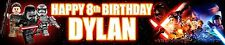 2 X Lego Star Wars Force Awakens Personalised Birthday Banners