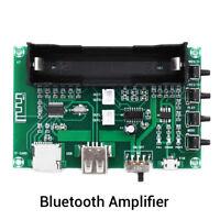 Bluetooth Power Amplifier Board PAM8403 Stereo AMP USB 18650 Battery Power HF