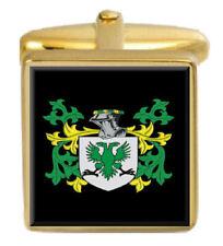 Quinlan Irlanda STEMMA DI FAMIGLIA cognome STEMMA Gemelli in oro incisi BOX