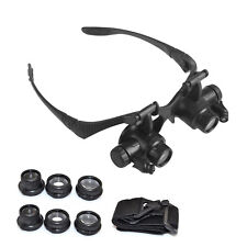10X-25X Lupenbrille Vergrößerungs LED Lichtglas Uhrmacher Brille Juwelier Lupe
