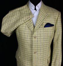 Silk Jacket Blazer Cream Check Daniel Hechter Paris 44S AMAZING QUALITY 2898